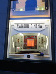 Random Cinema - Tiny Movie Theater Interior Store Window Display 3751 (Brechtbug) Tags: christmas windows random cinema tiny movie theater interior decor holidays winter department store madison avenue nyc 2017 holiday stage theatre motion picture camera tripod studio film box seats doll house miniature mini sculpture statue hollywood hudson astoria queens mannequins chess piece horses knights knight 11172017 november