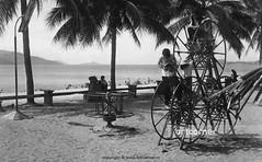 Summer afternoon on Nha Trang beach - Trưa hè trên biển Nha Trang - 1968 (Nguyen Ba Khiem) Tags: 1960s 1968 hìnhảnhxưa việtnam việtnamxưa nhatrang nhatrangxưa nguyễnbámậu phongcảnh biển nước dừa trẻem côngviên