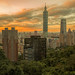 Taipei 101 at dusk (16:55)