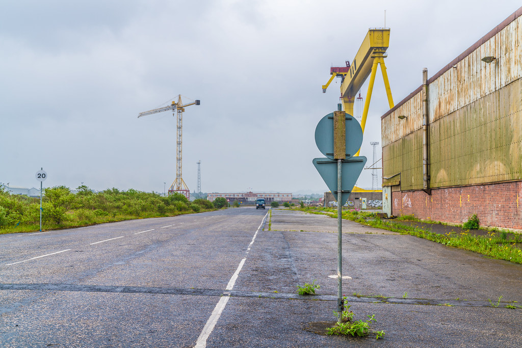 VIEW OF THE FAMOUS CRANES [SAMSON AND GOLIATH IN BELFAST]-134122