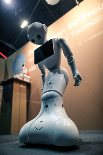 Sleeping Humanoid Robot Pepper