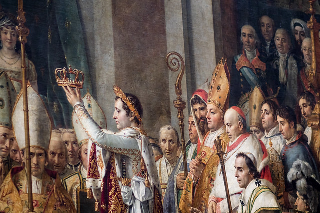 The Coronation of Napoleon - Detail