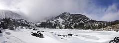 Lake Haiyaha (BernieErnieJr) Tags: lakehaiyaha rockymountains rockymountainnationalpark estespark frontrange duhamel bernie greatphotographers teamsony glaciergorge snow snowy clouds sonya9 sonyfe100400mm