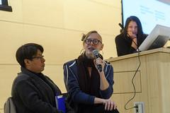 Maribel Torres and Sasha Costanza-Chock at The People's Disruption (Trebor Scholz' Photos) Tags: platformcooperativism platformcoop thenewschool eugenelangcollege
