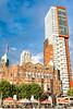 Hotel Nueva York (Stauromel) Tags: hotelnuevayork rotterdam holanda holland netherlands hotel hollandamerikalijn kopvanzuid wilhelmina maastoren alquimiadigital arquitectura stauromel skyline street clouds fuji fujixt2
