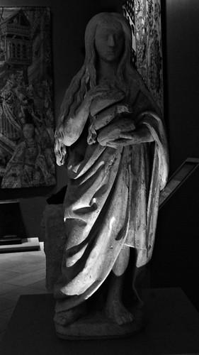 17 - Reims - Musée Saint-Remi - Saint Marie l'Egyptienne, Troyes, 1er quart du 16ème siècle - Calcaire, polychromie
