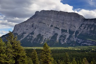 A Profile Glance Across to Mount Rundle