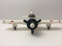 Zero Front View (TheMachine27) Tags: lego zero wwii japanese fighter airplane mitsubishi military a6m