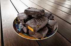 Spiced Chocolate Pixel-shifted Pumpkin Pieces! (Eddy Summers) Tags: vegan vegetarian food cake nomnom slices sweets chocolate dessert yummy homemade pumpkin