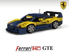 Ferrari F40 GTE (lego911) Tags: ferrari f40 gte 1996 1990s racer racing lm v8 turbo carbon fibre fiber italy italian auto car moc model miniland lego lego911 ldd render cad povray enzo foitsop