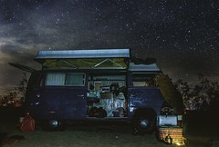 Camping Trip Went Wrong (Dhari .K ALFawzan) Tags: explore car landscape sand hike camping trip vw skyline night clouds sky stars ca desert
