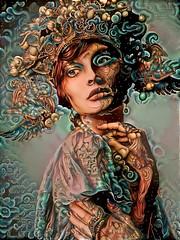 Beauties Deep Dream Generator (cirooduber) Tags: trollieexcellence awardtree digitalarttaiwan visualart deepdream ostagram face