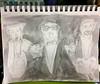 """Jazz Trio"" with Background Color (BKHagar *Kim*) Tags: bkhagar art artwork sketch watercolor 2minutes fast quickdrawing pencil jazztrio withbackgroundcolor"