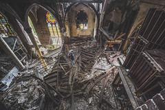 Mass destruction (_soliveyourlife_) Tags: abandoned church decay abandonedplaces explore forgottenplaces sony urbanexploring