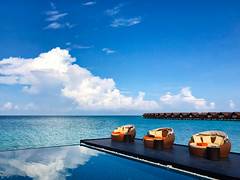 Maldives - View from the resort Pool (mikebartucca) Tags: maldives pool ocean villas