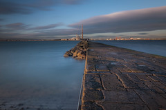 Dublin South Wall (McGarry) Tags: dublin bay dawn long exposure clouds south wall pier stone ringsend pigeon house
