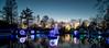 Sunset Lights (larry fa) Tags: festivaloflights cincinnatizoo nikon d800 zeiss21mm evening sunset christmas