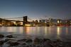 Brooklyn Bridge (sigi-sunshine) Tags: newyork bigapple usa america amerika brooklyn dumbo manhattan skyline nighttime blauestunde eastriver nikon nikond5200