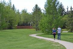 Path Walk (Vegan Butterfly) Tags: outside outdoor edmonton alberta park summer people together walk walking path green field grass trees