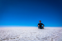 The Salar de Uyuni was a great place for meditation.