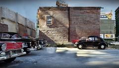 Demolished Building Parking Lot II 2 (gpholtz) Tags: diorama miniatures 118 diecast 1950 vw beetle