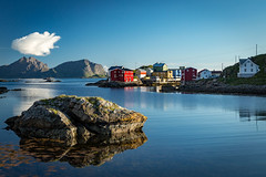 Nyksund Village, Langøya, Vesterålen Archipelago, Norge (North Face) Tags: norway norge norwegen bay sea water sky buildings village landscape nature summer outdoors island canon eos 5d mark iii 5d3 24105l city norwegian