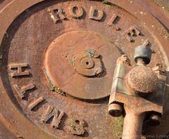 Gilfach Ddu steam crane 03 oct 17 (Shaun the grime lover) Tags: wales industrial machinery rusty dinorwic dinorwig llanberis gilfachddu slate museum workshop quarry steam crane piston crank flywheel
