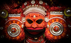 Calm & Composed (Logesh Photostream) Tags: theyyam kerala chamundi artform malabar god fierce dance costume face painting culture tradition painterly d750 nikon festival godly