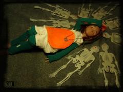 Happy Halloween (again)! (Seiji-Univers) Tags: seijiunivers seiji halloween specialhalloween event fest fête skeleton outfit girl tan ebony purple yosd french france lillycat cerisedolls jyotsana cute 2017 chibi lana bjd doll poupée chibbi toys