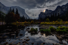 Iridescent Clouds Reflected, by Moonlight! (Jeffrey Sullivan) Tags: fall colors workshop yosemite nationalpark photography landscape travel california usa nature canon eos 6d photo copyright november 2017 jeff sullivan unitedstates sierranevada national park united states morning fog mist weather iridescent clouds refraction spectrum physics science