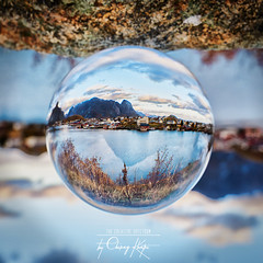 ~ Little Wonder ~ (Chirag Khatri) Tags: nikon d850 norway norge lofpten reine crystalball ball crystal glass lookingglass pov circle unique landscape creative tamron tamron1530 travel nature clouds colors life excitement explore flickr northern experiment outdoor water banks village reinelofoten concealed inside through square dof nikond850 planned