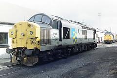 BRITISH RAIL 37051 (bobbyblack51) Tags: british railways class 370 english electric type 3 coco diesel locomotive 37051 ayr depot 1993