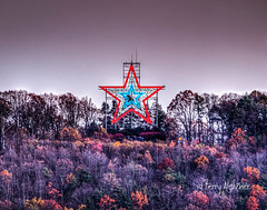 Happy Veterans' Day [Explore!] (Terry Aldhizer) Tags: roanoke star mill mountain red white blue veterans day autumn november virginia twilight sunset evening terry aldhizer wwwterryaldhizercom happy
