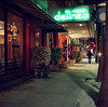 Hotel DeAnza (bior) Tags: sanjose downtownsanjose santaclarastreet night longexposure kowasix kowa6 kowa kodakfilm portra160vc kodakportra mediumformat 120 6x6cm hoteldeanza hotel street neon sidewalk artdeco