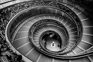 The Bramante Staircase in black and white: part 3