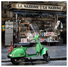 This can only be Italy! (The Stig 2009) Tags: italy scooter newsagent street candid thestig2009 stig 2009 2017 tony o tonyo thestig lml vespa star motorbike nikon florence firenze tuscany green