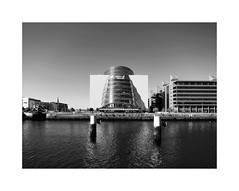Baile Átha Cliath 41 (2 Marvelous 4 Words (Blanca Gomez)) Tags: architecture dublin ireland conventioncentre building kevinroche docklands arquitectura lights shadows patterns glass river liffeyriver