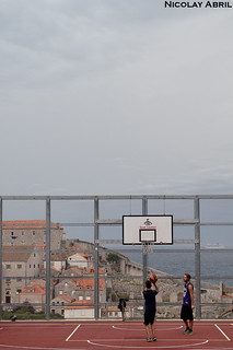 Playing in Dubrovnik's Old Town