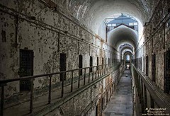 Cellblock 7, a two story cell block in the Eastern State Penitentiary (PhotosToArtByMike) Tags: easternstatepenitentiary cellblock7 philadelphia philadelphiapa centercityphiladelphia penitentiary prison jail esp philly cityofphiladelphia cellblocks cell pennsylvania pa downtown hallway abandoned