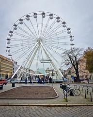 Ferris wheel on Plac Wolnosci (Freedom Square) in Poznan, Poland (dominikpl72) Tags: poznan poznań poland polska polen wielkopolska bicycle cycling autumn
