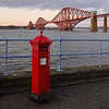 South Queensferry (BigCam2013) Tags: penfoldpillarbox postbox redrule reds pillarbox rouge rojo rood bridges forth forthbridges forthrailbridge forthtours multizoom niceview nikond5200 nikondx18140mmvr notinexplore photographer scenery scenic scotland scottish southqueensferry sunset thisisedinburgh tourism tourist visitscotland ecosse scotia