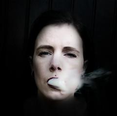 shawnjames_portret2 (Laura Wienk) Tags: smoke smoking selfportrait dark female shawnjames digital canon dutch zelfportret fotografie