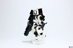 White Sentinel (Devid VII) Tags: lego moc military mech devid vii mecha minifigs war troopers crew foitsop wars trooper detail details drone droneuary rebel district soldier blue doctor dr one white sentinel t