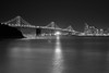 Beacon of Light (AgarwalArun) Tags: sonya7m2 sonyilce7m2 sony sanfrancisco bayareacalifornia iconicbridge pacificocean ocean bridge marincounty scenic views landscape reflections fog baybridge lights nightview nightscene nightcitty blackandwhite