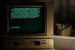 Apple IIe and text written in AppleWriter II. (Born_In_6502) Tags: retro retrocomputing retrocomputers oldcomputers vintagecomputers vintagecomputing beautyshots podstawczynski adampodstawczynski