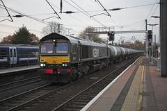 66779 at Ipswich (tibshelf) Tags: class66 ipswich 66779 gbrf eveningstar