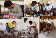 Men at work (LeftCoastKenny) Tags: madagascar day6 ambositra bird craftsmen carvers wood