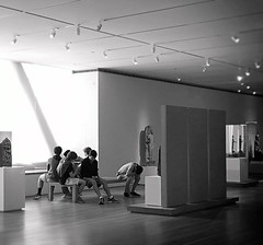 At the Museum (Demmer S) Tags: inside museum group boys students sitting bench art interior sculpture paintings artwork gallery room indoors benches ceiling lights window lines shapes light museums streetphotography people peoplewatching documentary person urban city theartinstituteofchicago artmuseum artinstitute michiganavenue artinstituteofchicago aic grantpark chicago il illinois windycity downtown loop chicagoland chicagoist chicagoistphotos michiganave magnificentmile bw monochrome blackwhite blackandwhite blackwhitephotos blackwhitephoto