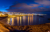 Playa de Fañabé Dawn Tenerife (Bommer60) Tags: yellow tenerife adeje sea night canaryislands panorama spain longexposure