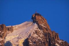 Aiguille du Midi in the sunset. Chamonix. (elsa11) Tags: aiguilledumidi chamonix hautesavoie montblancmassif alps alpen france frankrijk sunsetaiguilledumidi montblanc sunset